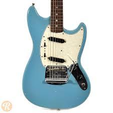 fender mustang guitar fender mustang blue 1966 reverb
