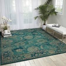 Teal Living Room Rug by Nourison Aria Teal Area Rug 7 U002710 X 10 U0027 Free Shipping Today