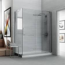 Bathtubs With Glass Shower Doors Stunning Shower Glass Panel Tub Doors Frameless Walk In Picture Of