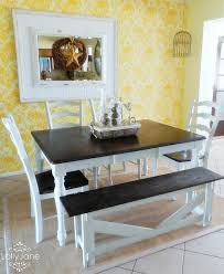 Dining Room Dark Dining Table White Chairs AIRMAXTN - Black and white dining table with chairs