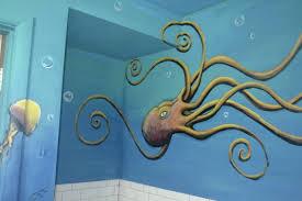 elegant bathroom mural ideas home design