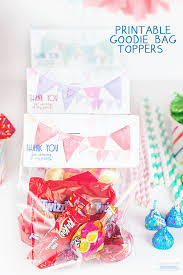 where to buy goodie bags free printable birthday goodie bag toppers