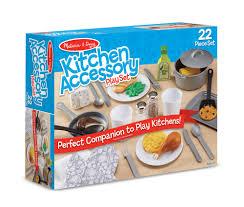 Kitchen Play Accessories - amazon com melissa u0026 doug 22 piece play kitchen accessories set