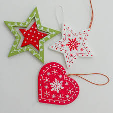 wooden christmas tree decorations buy from your local craft