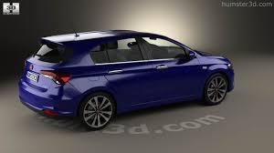 fiat hatchback 360 view of fiat tipo hatchback 2017 3d model hum3d store