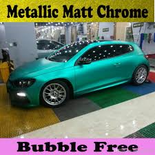 3m quality tiffany blue matte chrome vinyl car wrapping film with