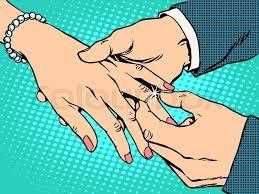 betrothal ring betrothal wedding groom gold ring pop retro style