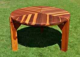Retro Patio Table by Lisa U0027s Round Dining Table Built To Last Decades Forever Redwood
