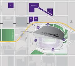 map us bank stadium us bank stadium map