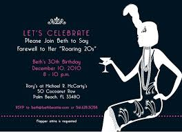 flapper invitations