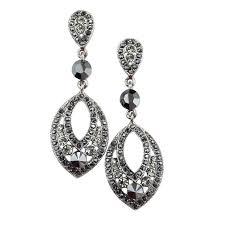 White Chandelier Earrings Black And White Chandelier Earrings Black Swarovski Crystal