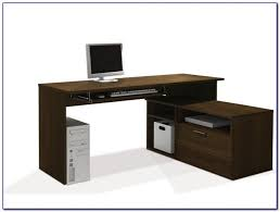 Glass L Shaped Computer Desk by L Shaped Glass Computer Desks For Home Desk Home Design Ideas