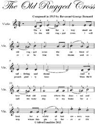 The Old Rugged Old Rugged Cross Easy Violin Sheet Music Pdf By George Bernard