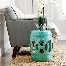 amazon com abbyson living talia ceramic garden stool in white