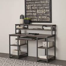 Metal Computer Desk With Hutch by Home Styles Barnside Gray Desk With Hutch 5053 152 The Home Depot