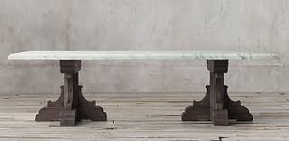 restoration hardware marble table rectangular table collections rh