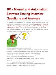 101 manual and automation software testing interview questions and