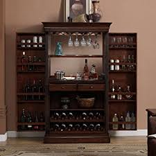 Amazoncom Ashley Heights Home Bar Wine Cabinet Kitchen  Dining - Kitchener wine cabinets