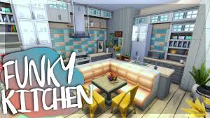 funky kitchen sims 4 room build youtube