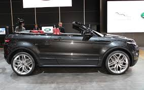 convertible land rover discovery first look land rover range rover evoque convertible concept