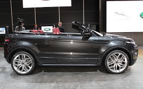 silver range rover evoque first look land rover range rover evoque convertible concept