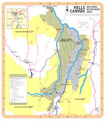 Oregon Map Us by Wallowa Whitman National Forest Recreation
