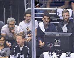 San Jose Sharks Meme - joe jonas and michael gandolfini watch la kings beat san jose sharks