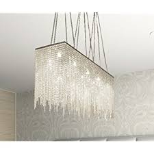 Rectangle Chandeliers 10 Light Modern Contemporary Dining Room Chandelier Rectangular