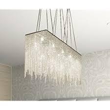 Dining Room Chandelier Lighting Siljoy Modern Crystal Chandelier Lighting Rectangular Oval Pendant