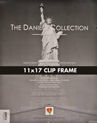 the frameless glass clip 11x17 frame by dennis daniels picture