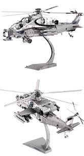wuzhi 10 helicopter model 3d laser cutting jigsaw puzzle diy metal