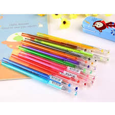 wholesale colorful 0 5mm gel ink pens set with crown diamond shape