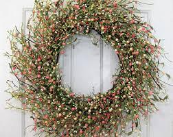 farmhouse decor white pip berry wreath wedding wreath