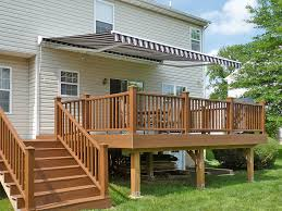 Wooden Decks And Patios Awnings Traditional Outdoor Deck Awning With Roof Tile And Patio