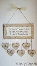 grandparent plaques handmade personalised decorative wall plaques ebay