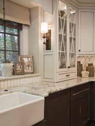 Old Farmhouse Kitchen Cabinets Kitchen Style Elegant Farmhouse Style White Glass Framed Cabinets