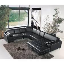 canap d angle noir cdiscount grand canapé d angle panoramique en cuir noir king achat vente