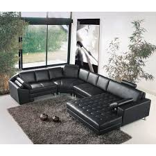 grand canap d angle cuir grand canapé d angle panoramique en cuir noir king achat vente