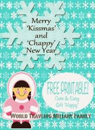merry kissmas and chappy new year free printable world