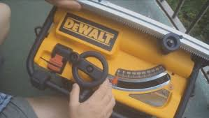 dewalt table saw guard dewalt compact table saw dw745 how to set up and use youtube