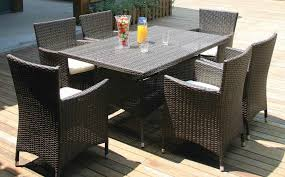 outdoor wicker dining table all weather wicker 7 piece outdoor dining set all weather wicker