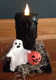 spooky halloween candle craft library arts