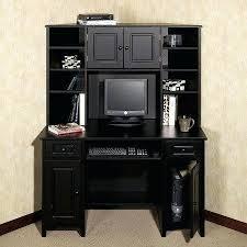 Black Desk And Hutch Corner Desk Hutch This Is Like My Ideal Desk