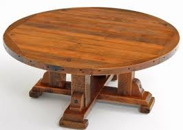 round wood coffee table rustic round wooden rustic coffee table distressed aged reclaimed