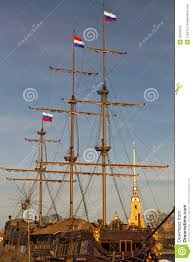 Wooden Nautical Flags Wooden Masts Of An Old Ship Stock Photo Image 39350602