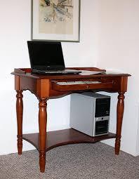 Pc Tisch Sekretär 100x80x60cm Tastaturauszug Schublade Ablageboden