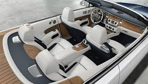 roll royce car inside this teak clad rolls royce dawn is fully customized to resemble a