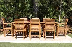 sale 95in oval table u0026 8 atlantic armchairs teak set oceanic