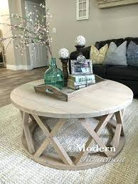 farmhouse coffee and end tables circle end table gorgeous rustic round farmhouse coffee table 3 4 n