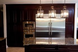 kitchen island pendant lighting stone wall white pantry ideas
